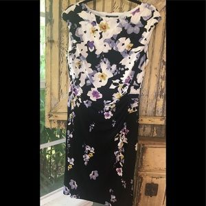 NWOT Ralph Lauren pansy floral dress size 14